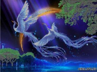 """Схема для вышивания бисером  """"Райские птицы """" А3 new."""